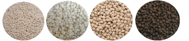 shape of compound fertilizer granules granulated by extrusion granulator 1