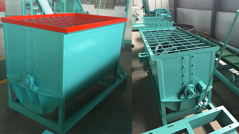 horizontal fertilizer mixer installation