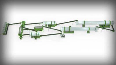 large scale compound fertilizer production line