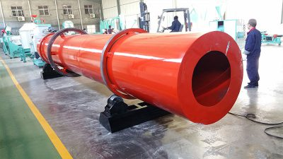 rotary drum dryer installation